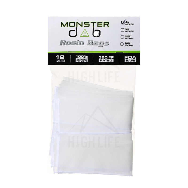 2 X 10 45 Micron Monster Dab Rosin Bag - 12 Units Extraction