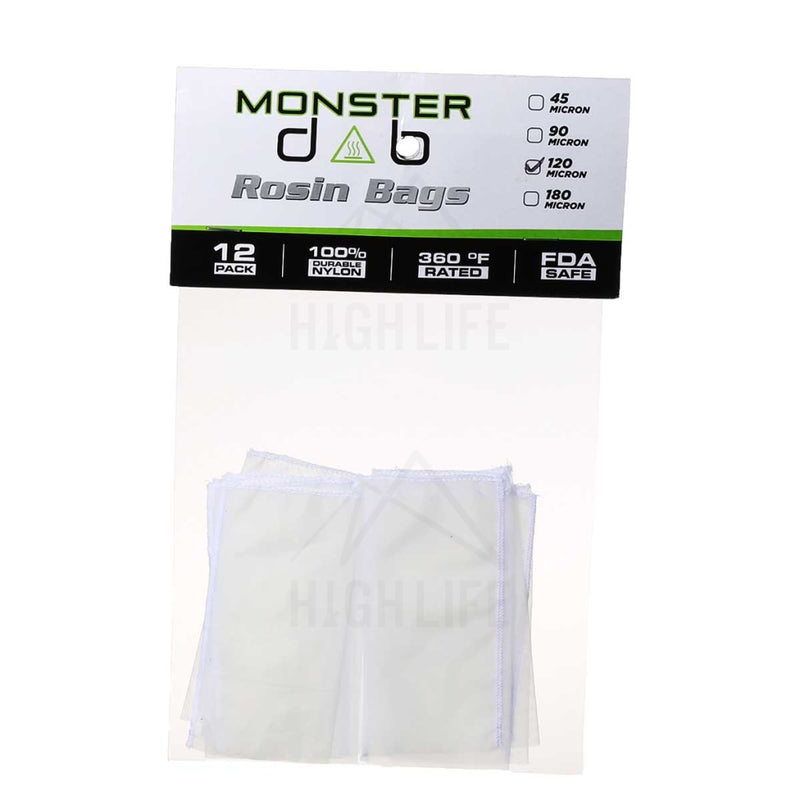 2 X 4 120 Micron Monster Dab Rosin Bag - 12 Units Extraction