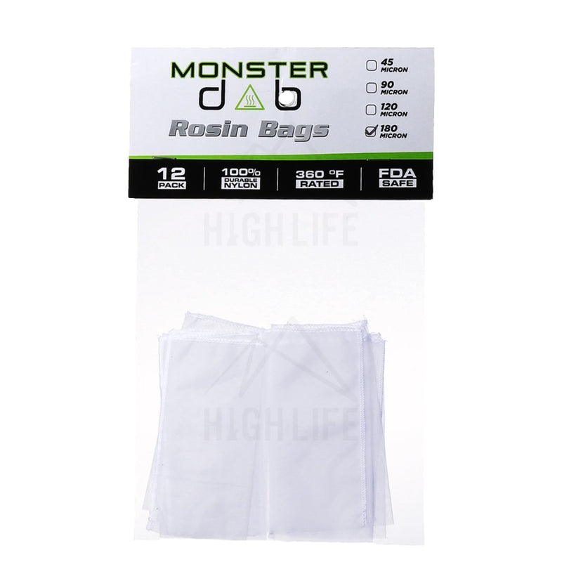2 X 4 180 Micron Monster Dab Rosin Bag - 12 Units Extraction