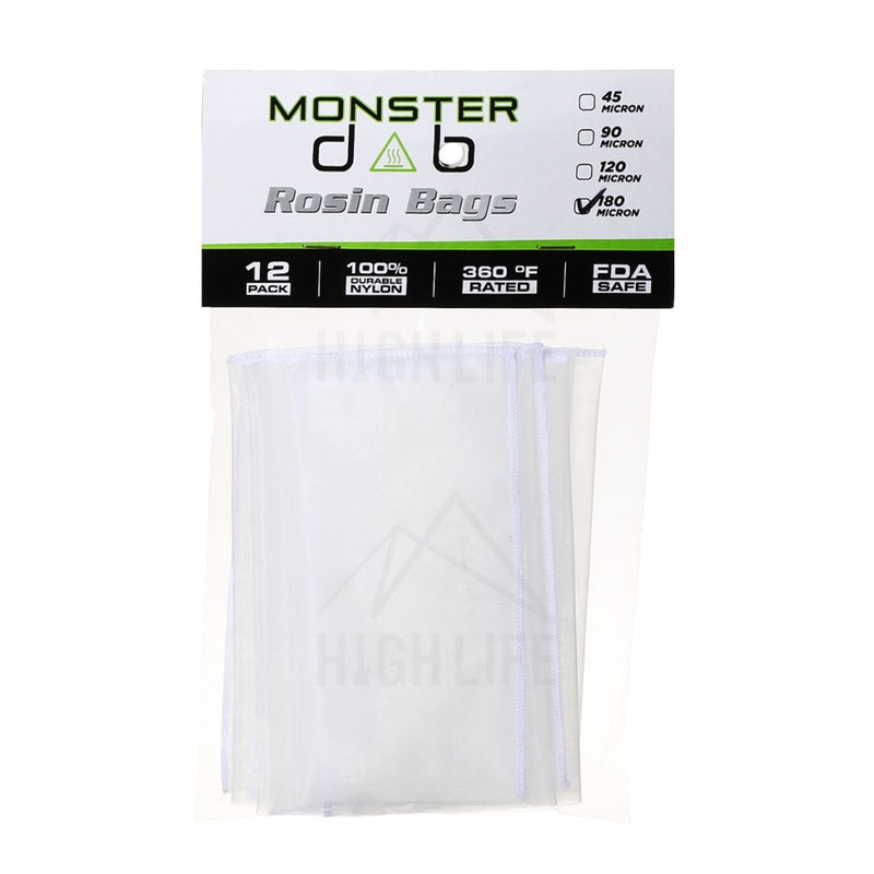 3 X 6 180 Micron Monster Dab Rosin Bag - 12 Units Extraction