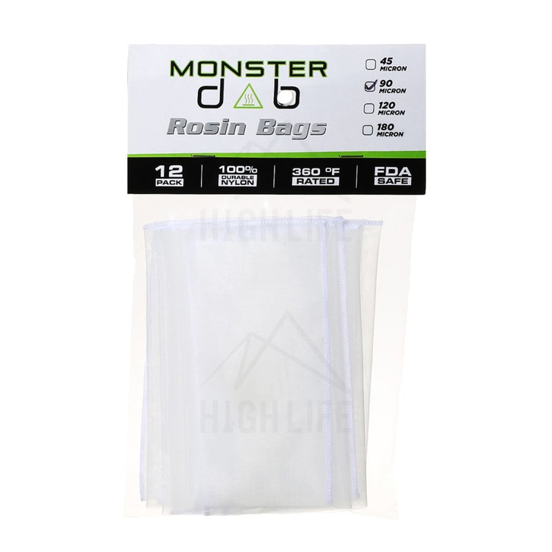 3 X 6 90 Micron Monster Dab Rosin Bag - 12 Units Extraction