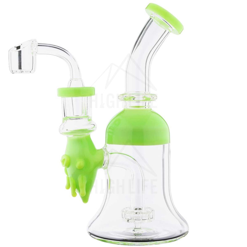 7.5 Dab Rig Slyme Face Showerhead Green