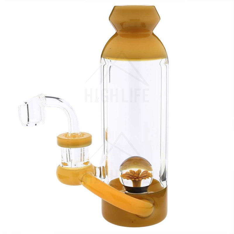 7 Bottle Dab Rig Marble Showerhead Yellow Jade