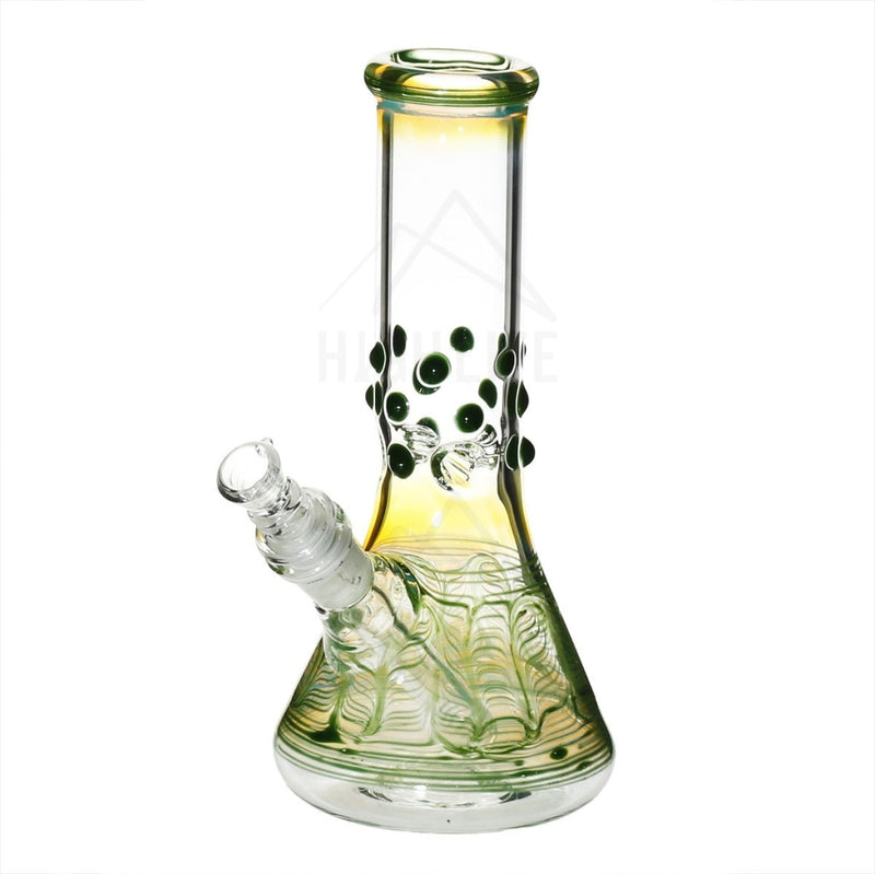 8 Beaker Bong With Marbles Green Bongs & Waterpipes
