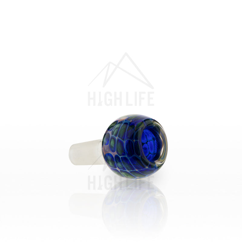 14mm Blue Honeycomb Fumed Bowl