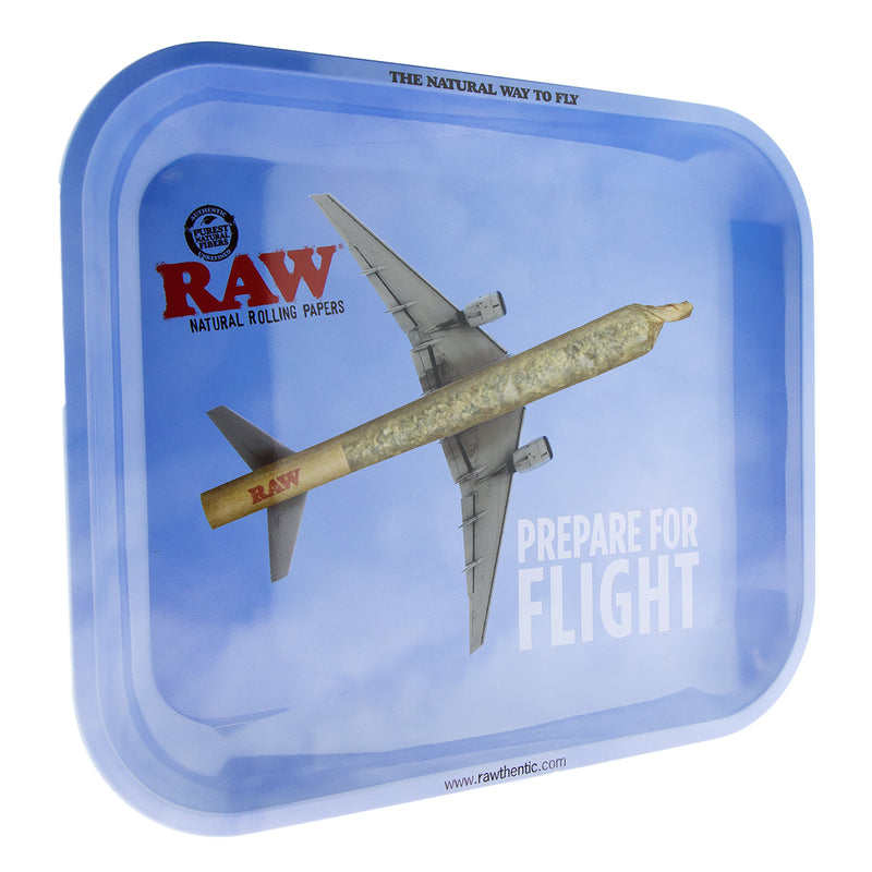 "RAW ""Prepare for Flight"" Rolling Tray - Large"