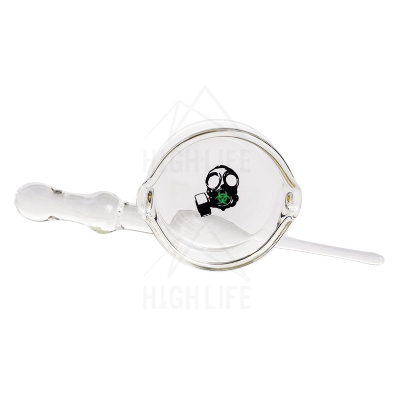 Bio Hazard Dish And Dabber Set - Green Gas Mask Decal Accessories
