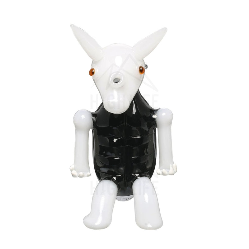 Black And White Jack Rabbit Water Pipe Hand Pipes