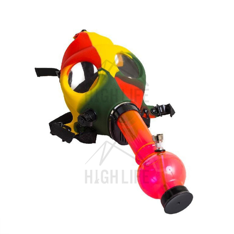 Gas Mask With Acrylic Pipe Set - Rasta Hand Pipes