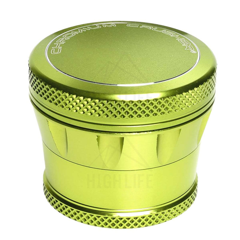 "Green 4pc Premium Chromium Crusher Tapered Top 2"" Grinder"