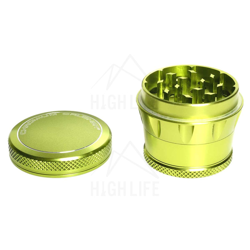 Green 4Pc Premium Chromium Crusher Tapered Top 2 Grinder Accessories