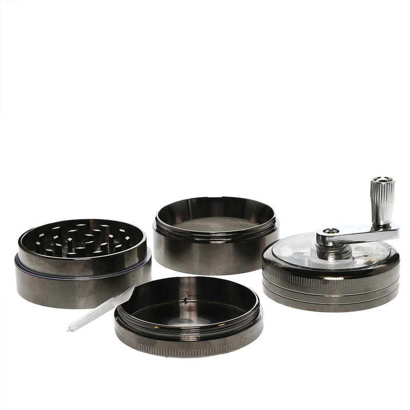4pc Chromium Crusher Grinder With Handle - 2 1/2""