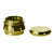 4pc Chromium Crusher Grinder With Finger Grooves Gold - 2 1/2""