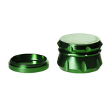 4pc Chromium Crusher Grinder With Finger Grooves Green - 2 1/2""