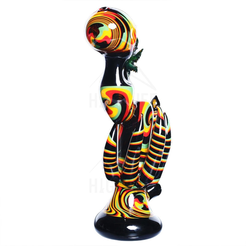 Heady Jahnny Rise MJ Rasta Worked Bubbler