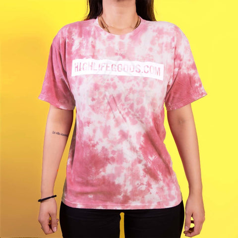 High Life Goods Pink Tie Dye T-Shirt Small