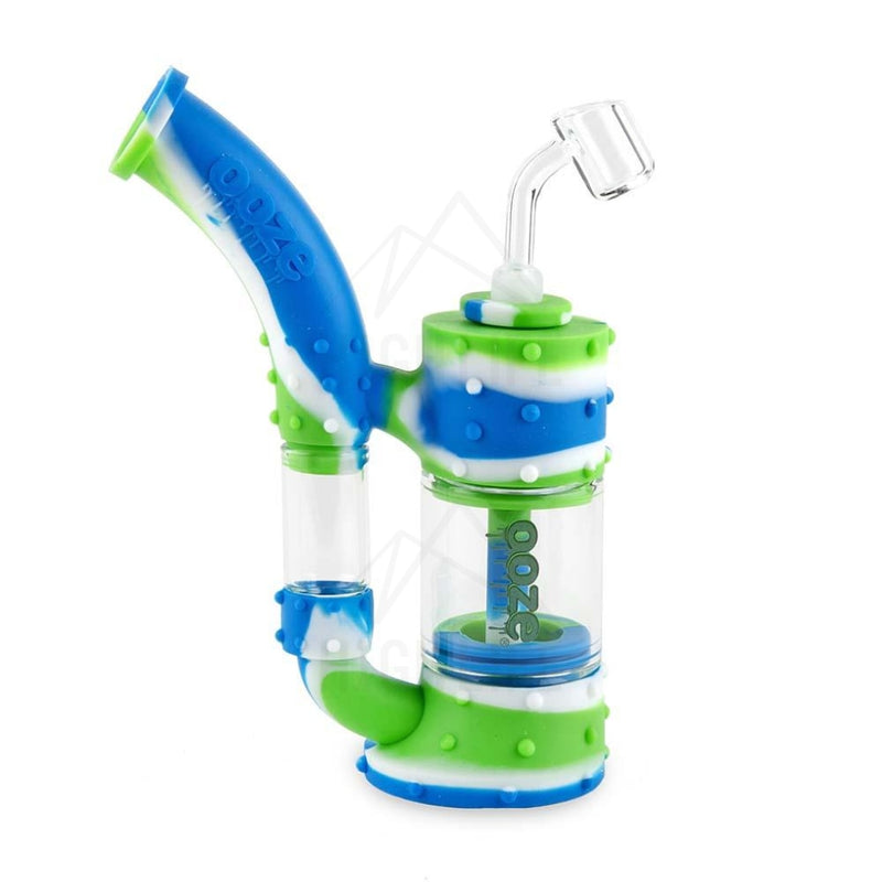 Ooze Stack Pipe Silicone Bubbler Blue