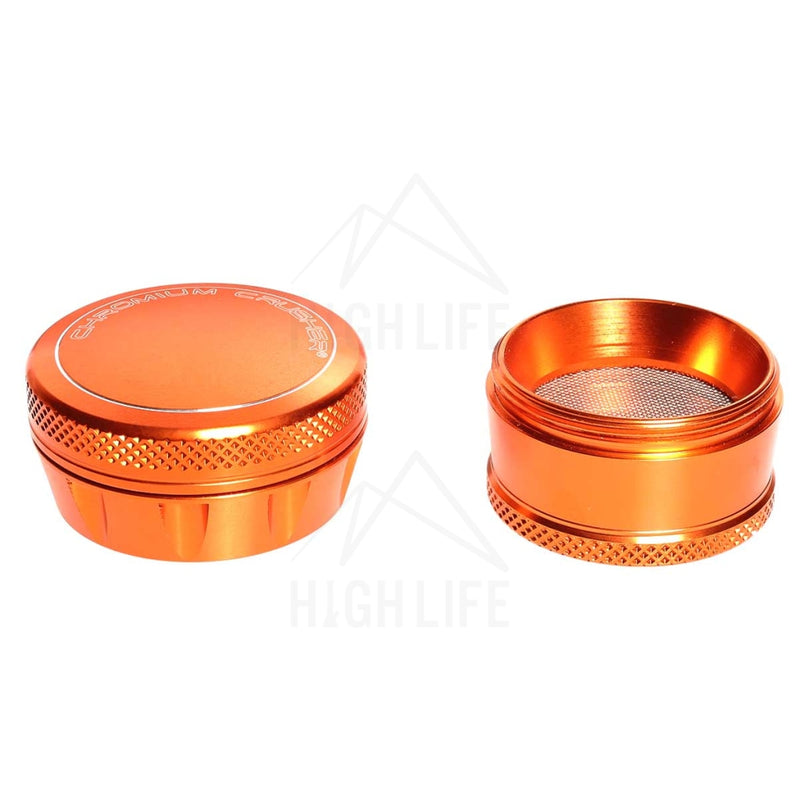 Orange 4Pc Premium Chromium Crusher Tapered Top 2 Grinder Accessories