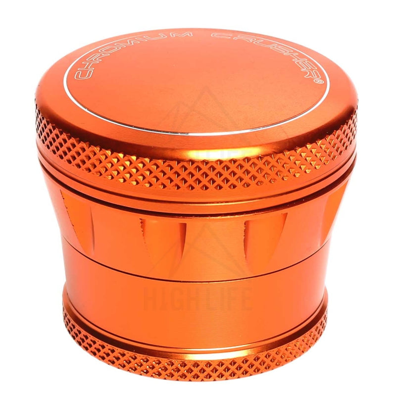 "Orange 4pc Premium Chromium Crusher Tapered Top 2"" Grinder"