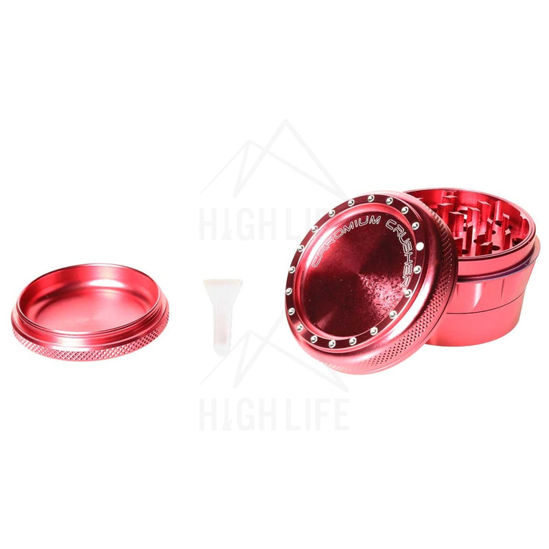Pink 4Pc Premium Chromium Crusher 2.75 Grinder Accessories