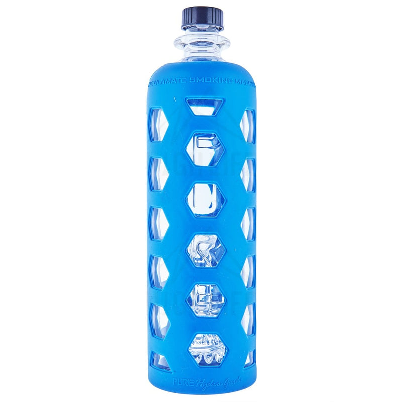 Pure Glass 9 Clear Bottle Mini Jellyfish Perc With Silicone Sleeve Blue
