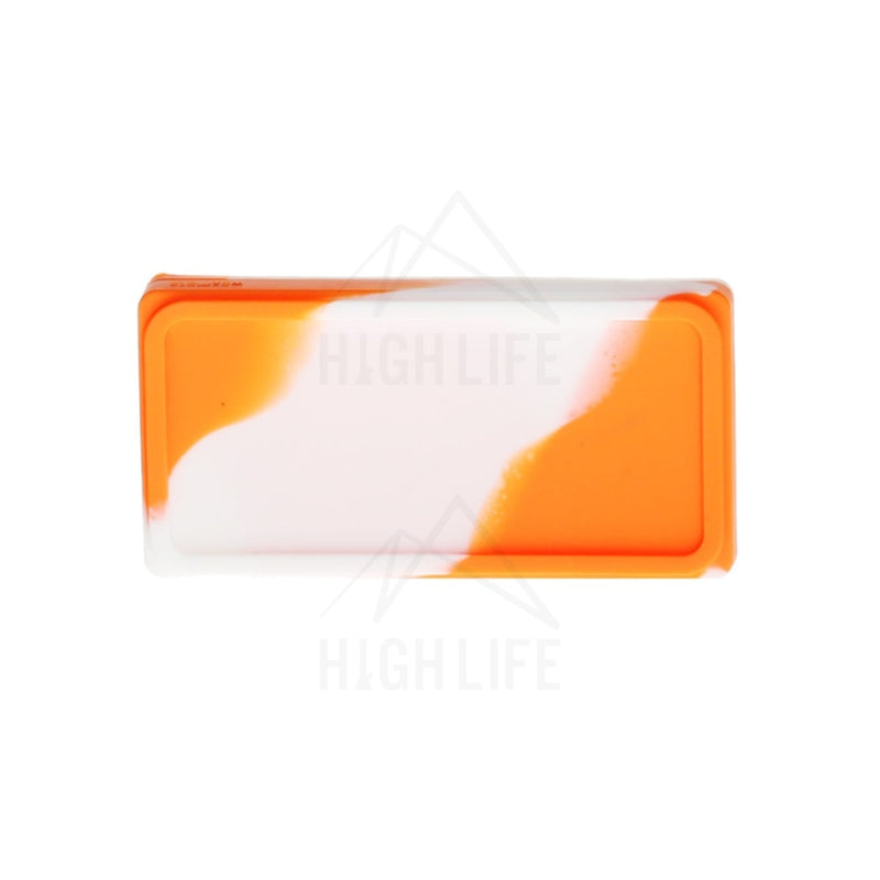 Silicone Shatter 2 Section 4.5 X 2.25 Case - Orange/white Accessories