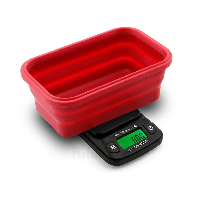 Truweigh Mini Crimson Collapsible Bowl 100G X 0.01G - Black / Red