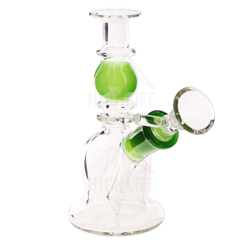 Waterpipe G/g 7 Double Maria Straight Martini With Bowl Green