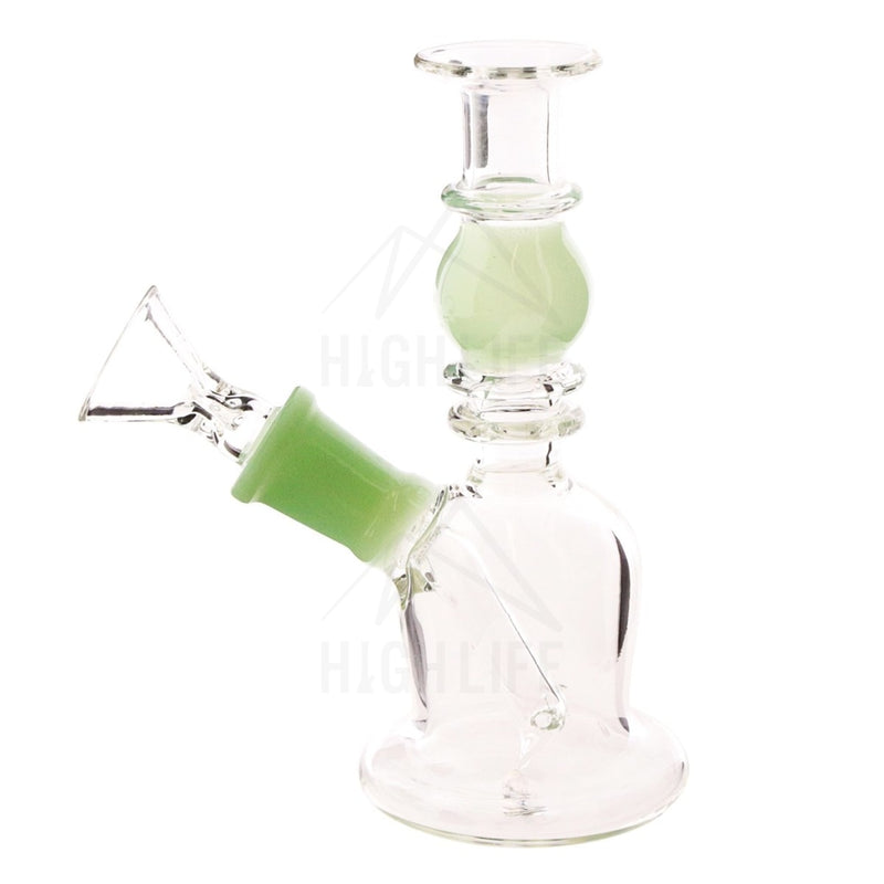 Waterpipe G/g 7 Double Maria Straight Martini With Bowl Lake Green