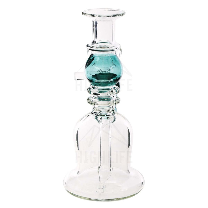 Waterpipe G/g 7 Double Maria Straight Martini With Bowl Teal