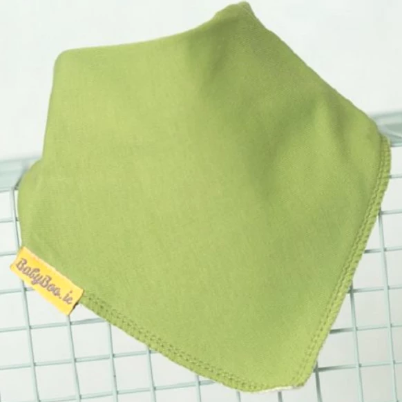 plain green babies bib