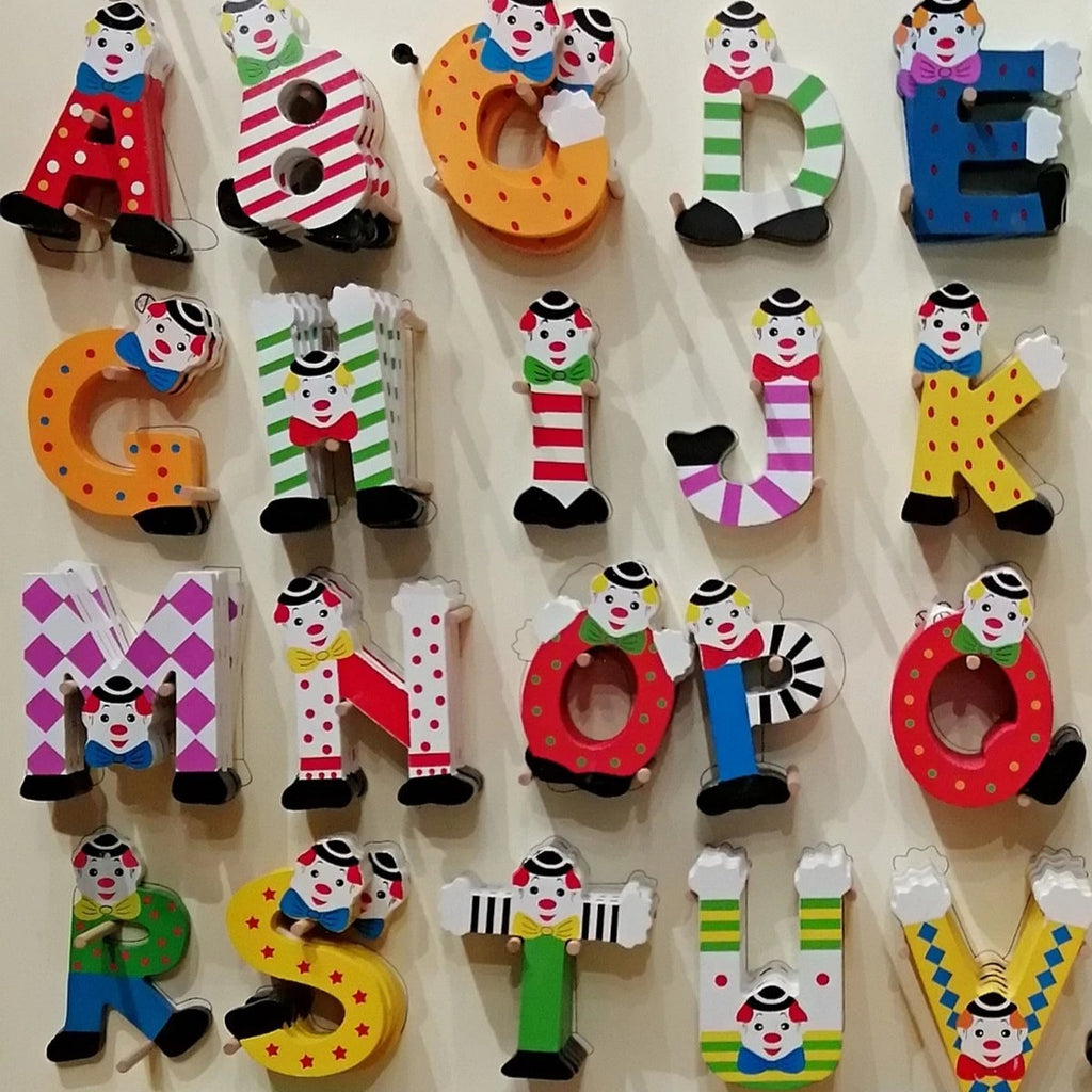 wooden clown letters by RyanTown toys
