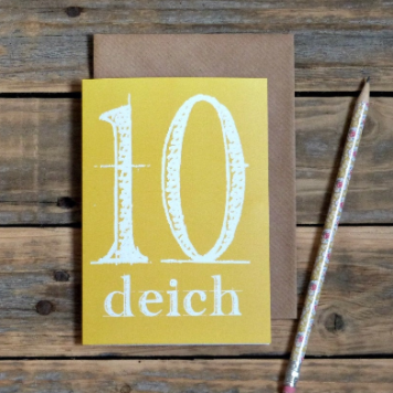 deich / tenth birthday, as Gaeilge card