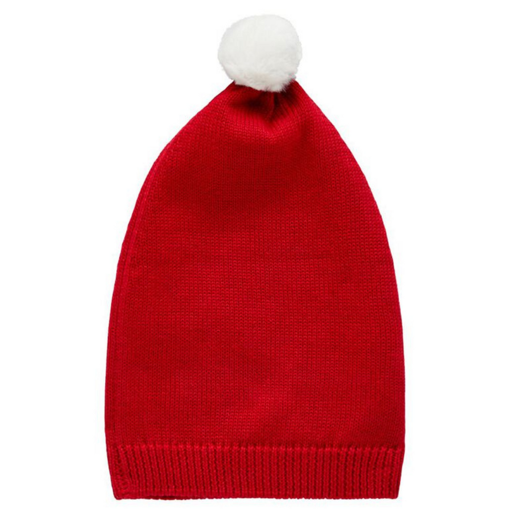 Red knit Christmas hat (6mths - 4yrs)