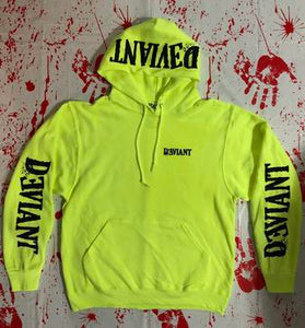 Deviant Green Logo Pullover Hoodie