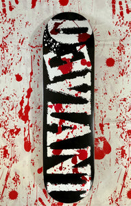 Logo Foil Blood Splatter Deck