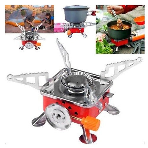 Portable card camping type gas stove burner