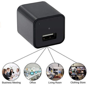 Mini High Definition 1080p Wireless Usb Plug Wall Camera Charger