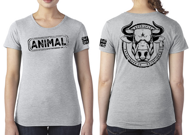 ANIMAL (Bull) Ladies T-Shirt - Premium Heather
