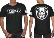 Load image into Gallery viewer, ANIMAL (Bull) Men's T-Shirt - Vintage Black