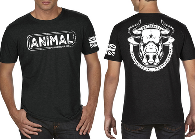 ANIMAL (Bull) Men's T-Shirt - Heather Black