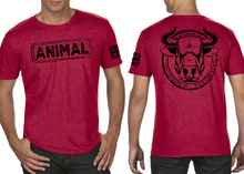 Load image into Gallery viewer, ANIMAL (Bull) Men's T-Shirt - Vintage Red