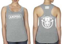 Load image into Gallery viewer, ANIMAL (Bull) Ladies Racer Back Vest - Heather Grey