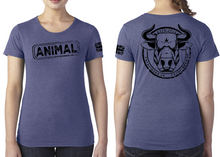 Load image into Gallery viewer, ANIMAL (Bull) Ladies T-Shirt - Vintage Royal