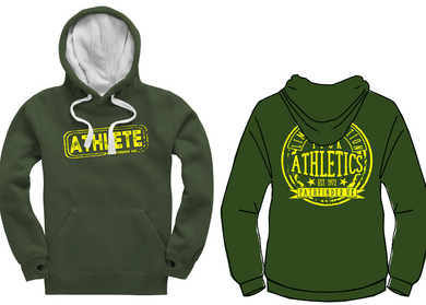 ATHLETE Unisex Heavyweight Hoodie - Bottle Green