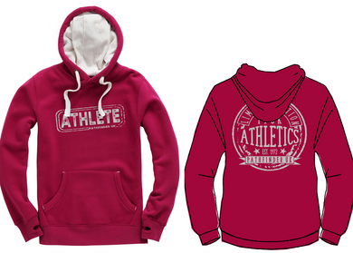 ATHLETE Unisex Heavyweight Hoodie - Cranberry