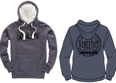 ATHLETE Unisex Heavyweight Hoodie - Denim Grey