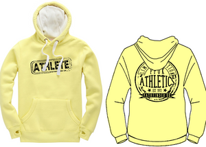 ATHLETE Unisex Heavyweight Hoodie - Lemon Drop