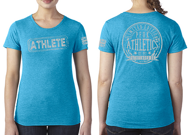 ATHLETE Ladies T-Shirt - Vintage Turquoise