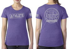 Load image into Gallery viewer, ATHLETE Ladies T-Shirt - Purple Rush